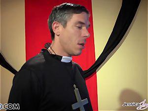 crazy nuns Jessica Jaymes and Nikki Benz pleasing gods wishes