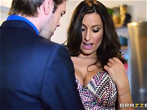 horny wifey sensual Jane pokes her hubbies fucking partner